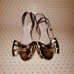 Kate Spade Idella Bow Ankle Strap Sandal Heels 7.5